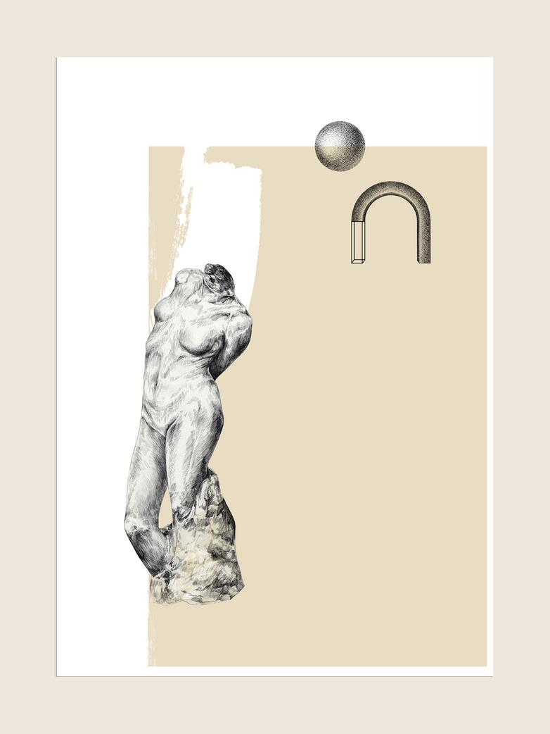 Venus in Beige - 50 x 70 cm