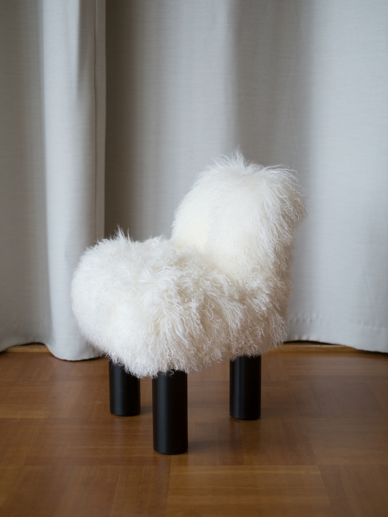 High Armchair Fur