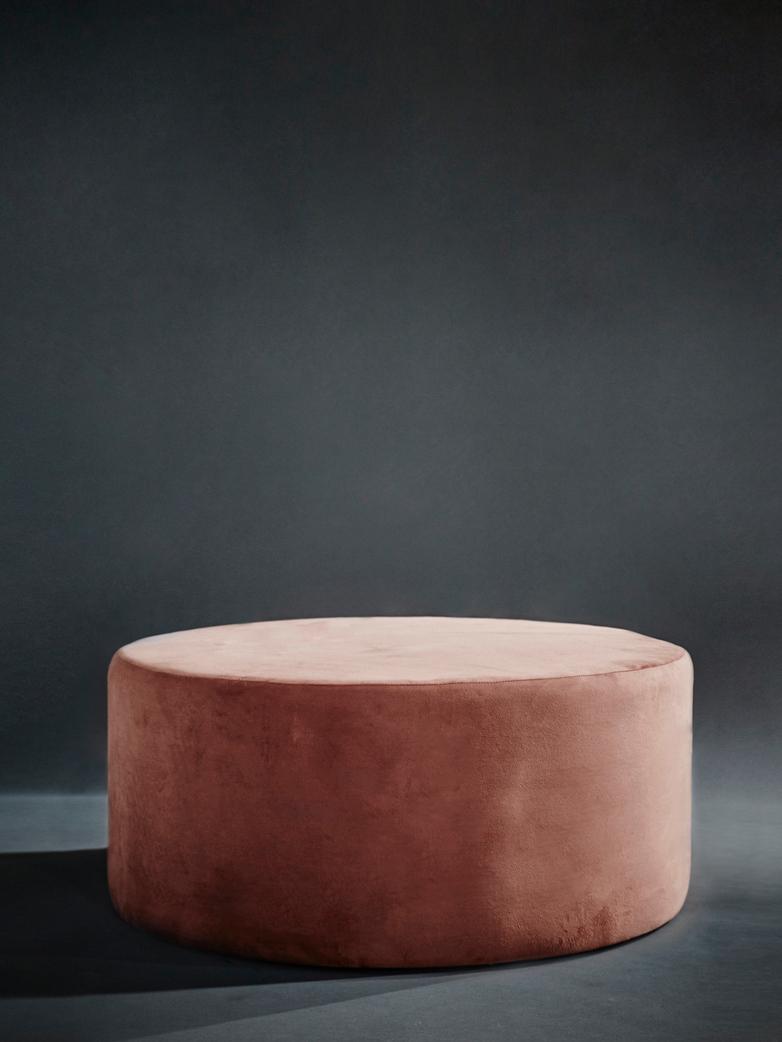 Round Pouf Rusty Pink