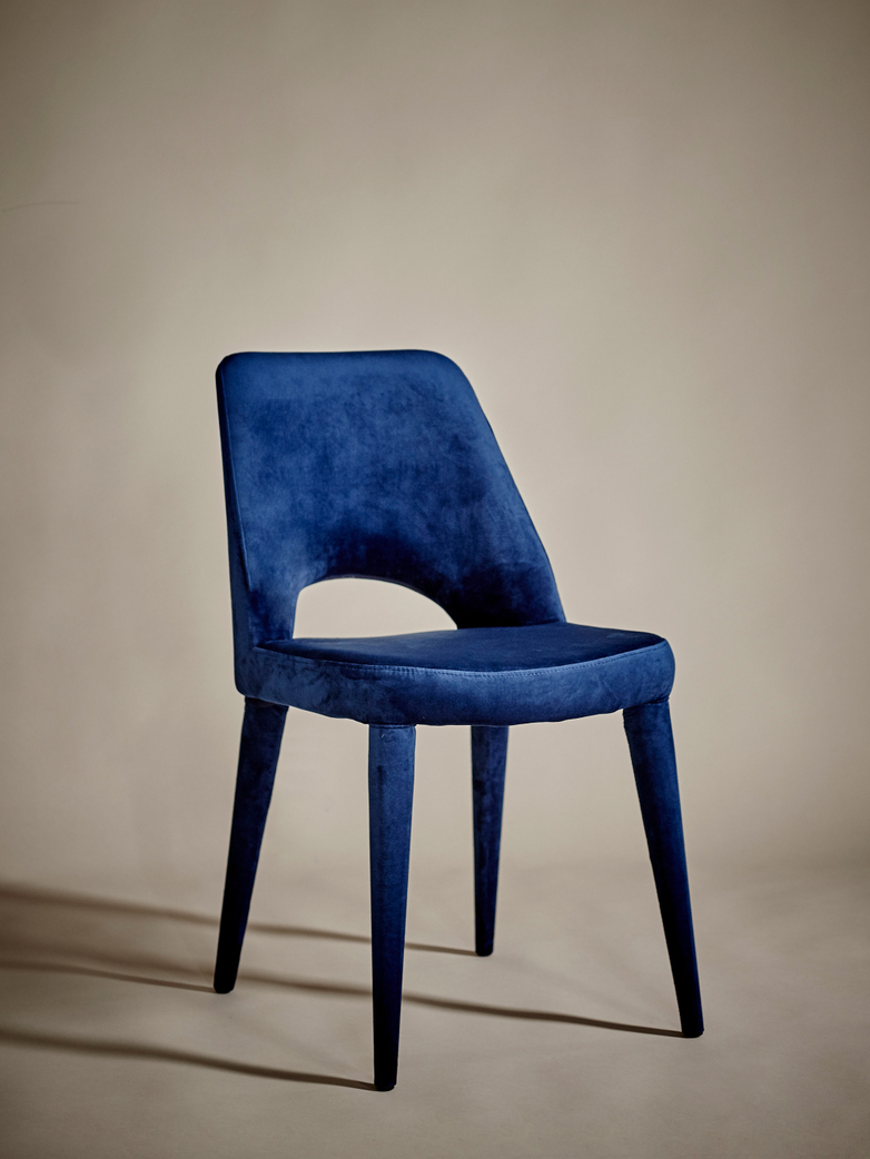 Chair Holy Velvet Blue