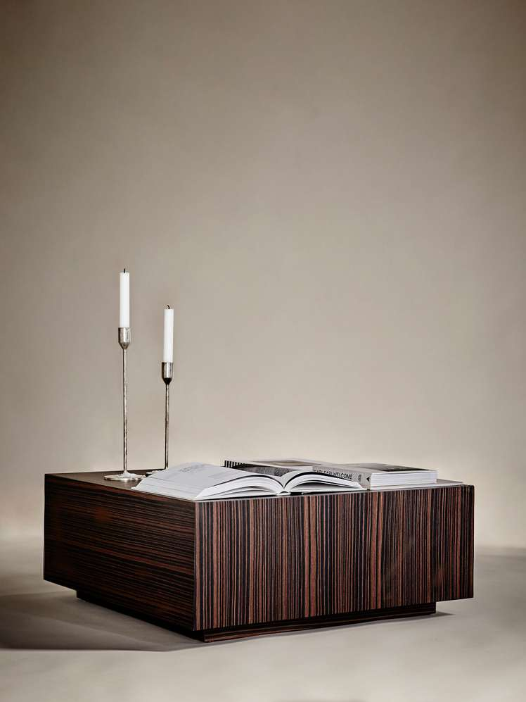 Boxed Sofa Table – 75 x 75 – Ebony 7 650 SEK