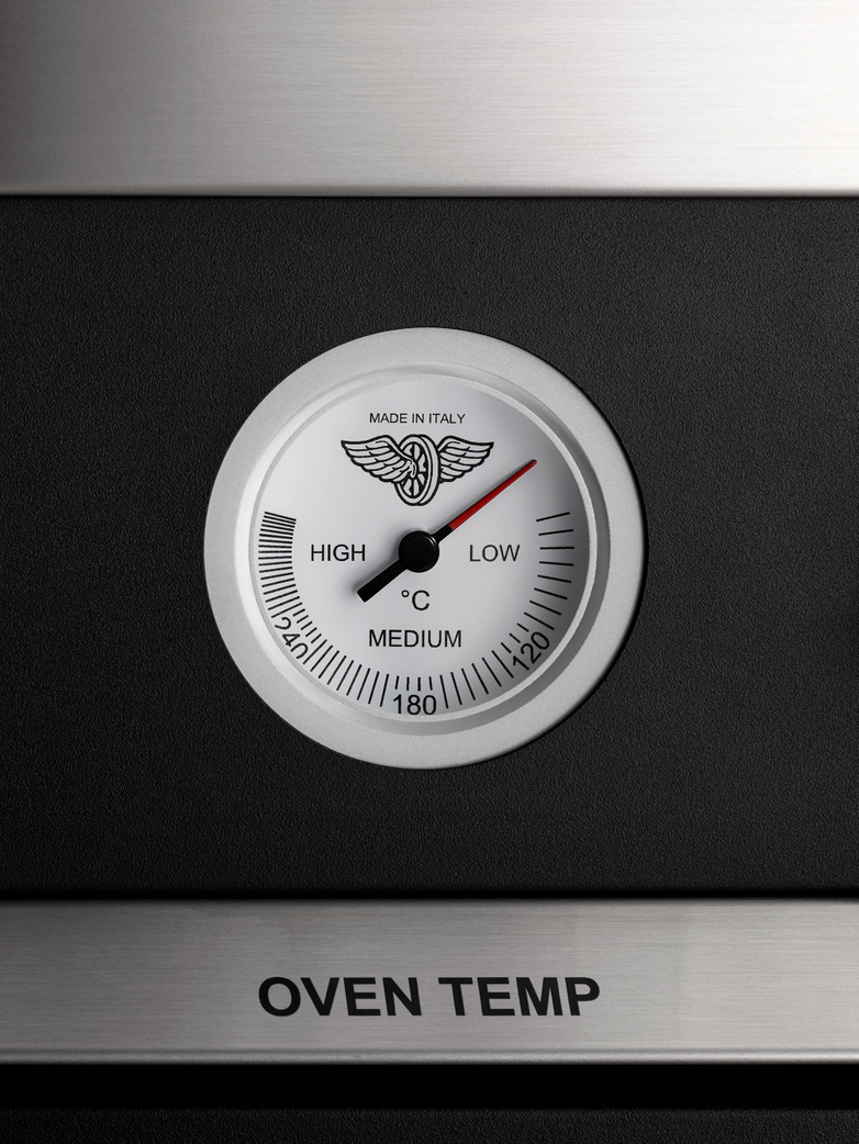 90 cm induction top electric double oven - Matt Black