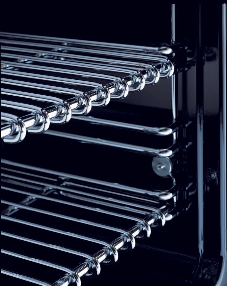 90 cm induktionsspis med dubbla ugnar, rostfritt stål , Professional-serien