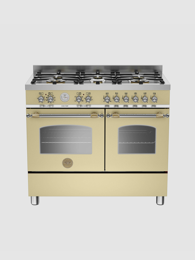 100 cm gasspis med dubbla ugnar, beige, Heritage-serien