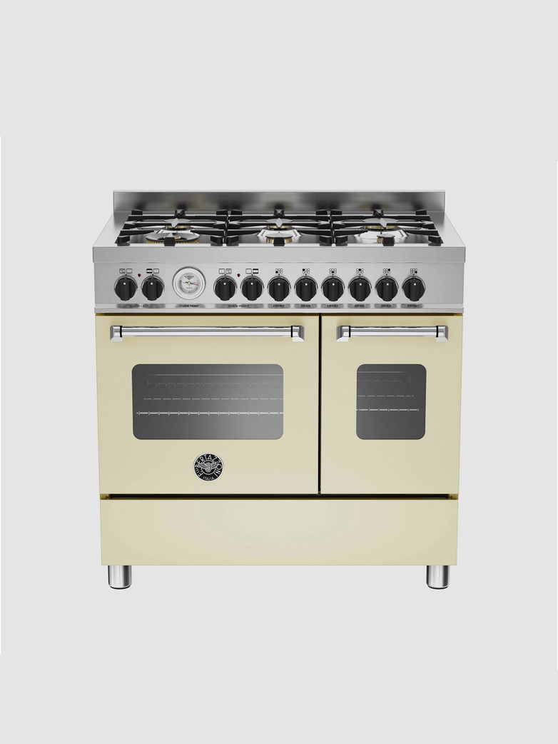 90 cm 6-burner electric double oven