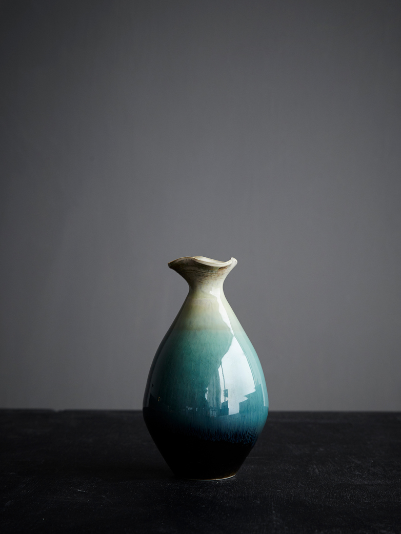 Teardrop Vase Green