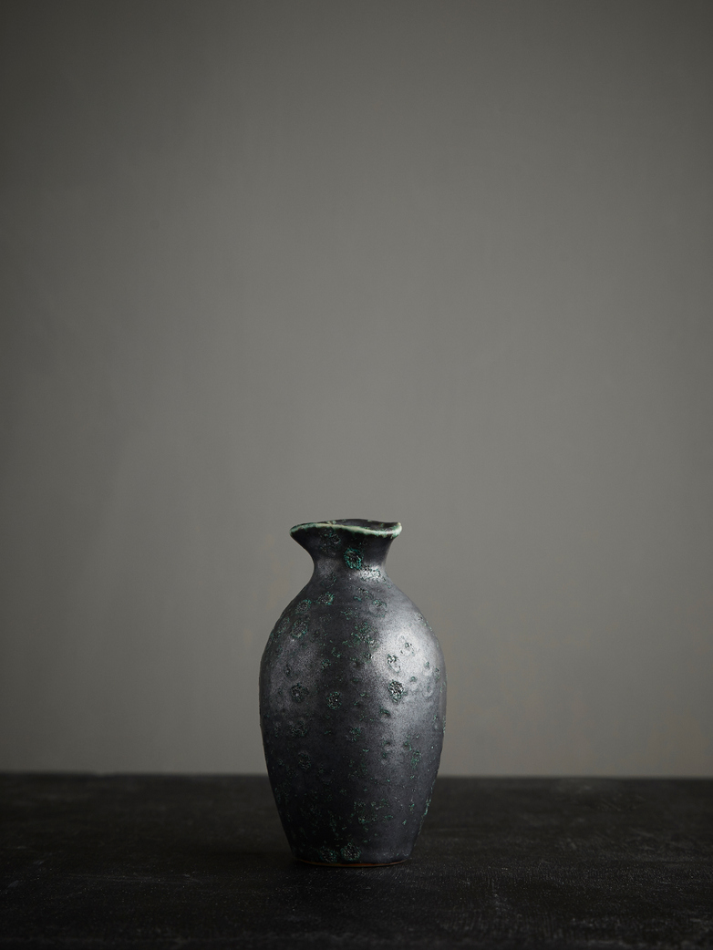 Reactive Glazed Vase - Green