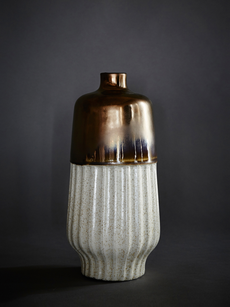 Vase Straight Metallic