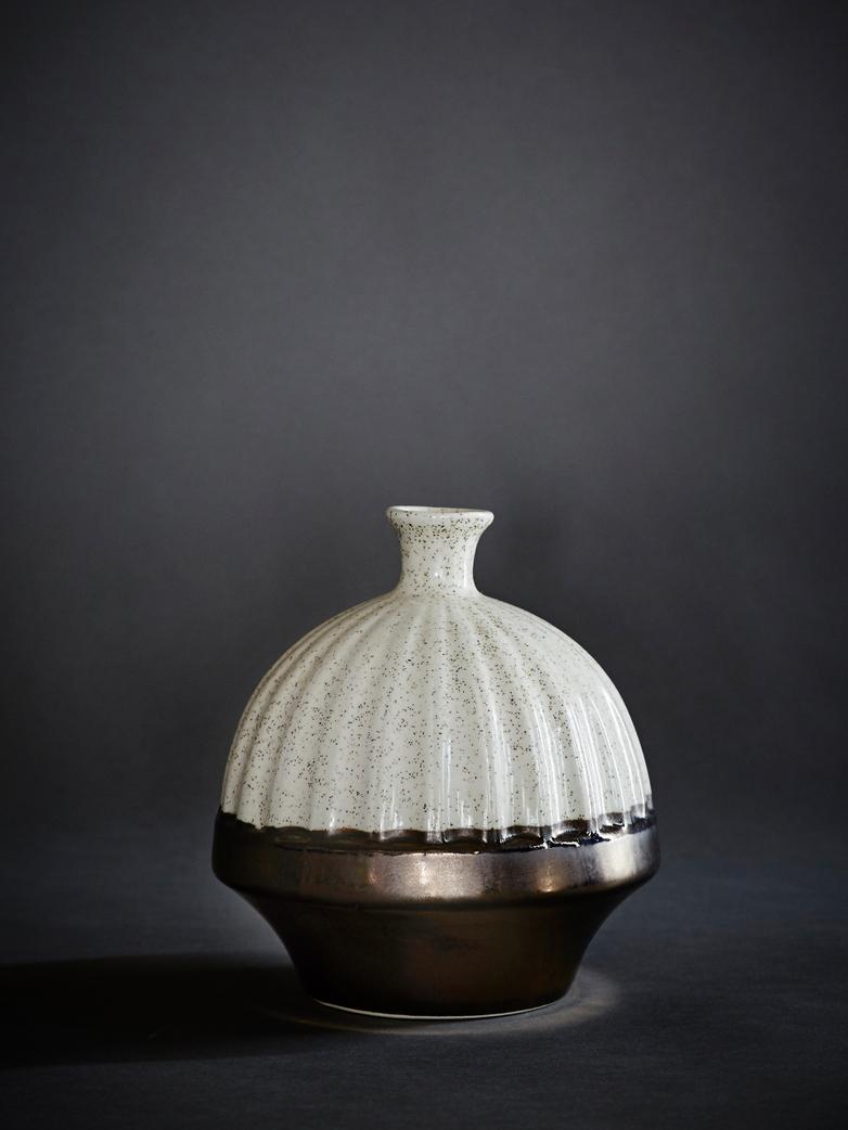 Vase Round Metallic