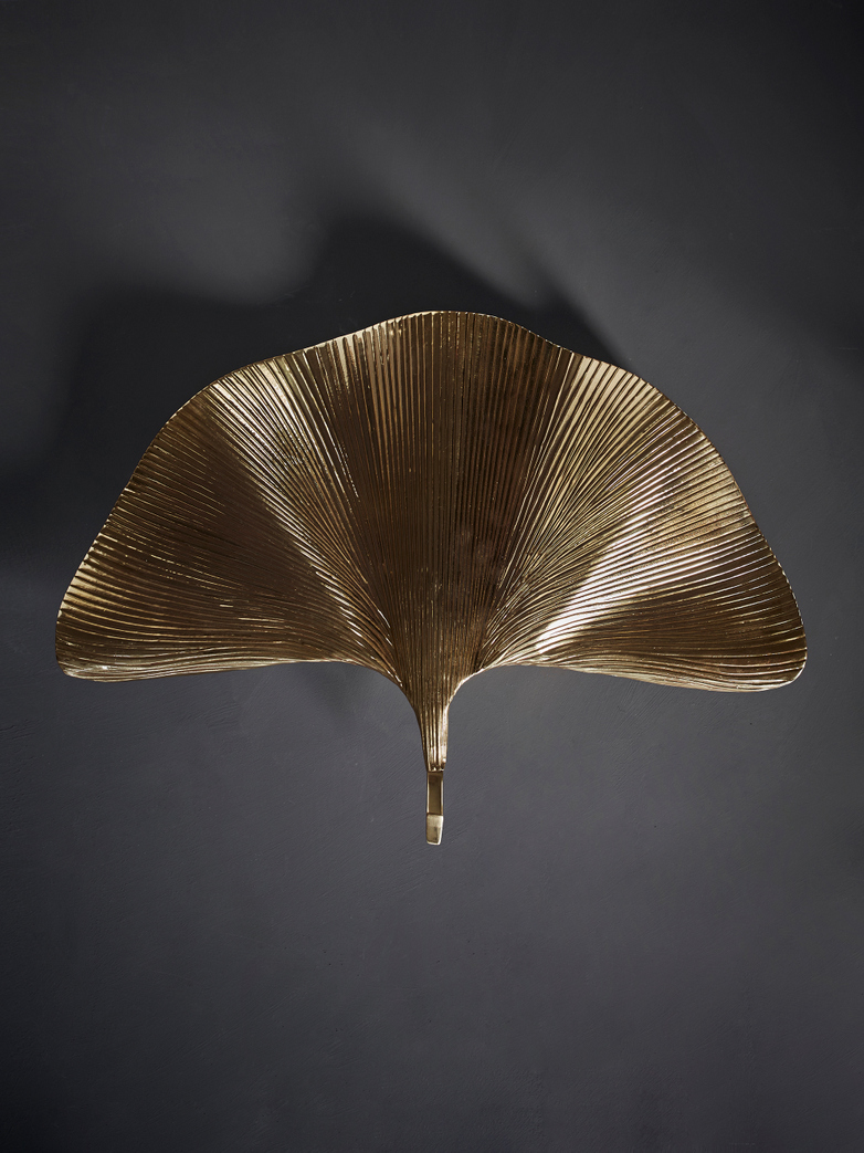 Anthurium Wall Lamp – Polished Brass