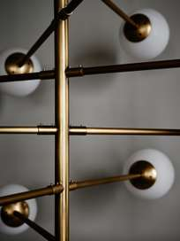 Cosmic Chandelier – Antique Brass Finish