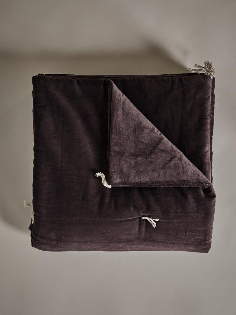 Velvet Sofacover – Puce Brown