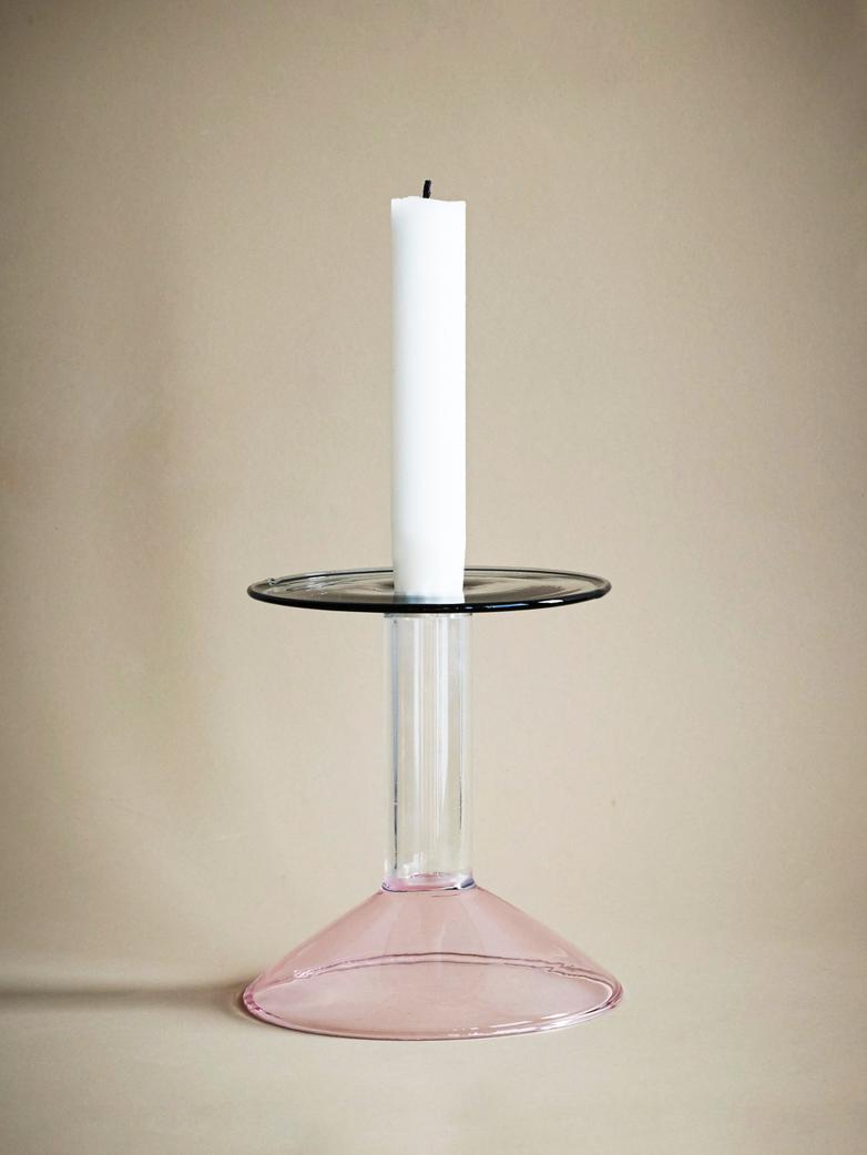Rainbow Candleholder - Pink