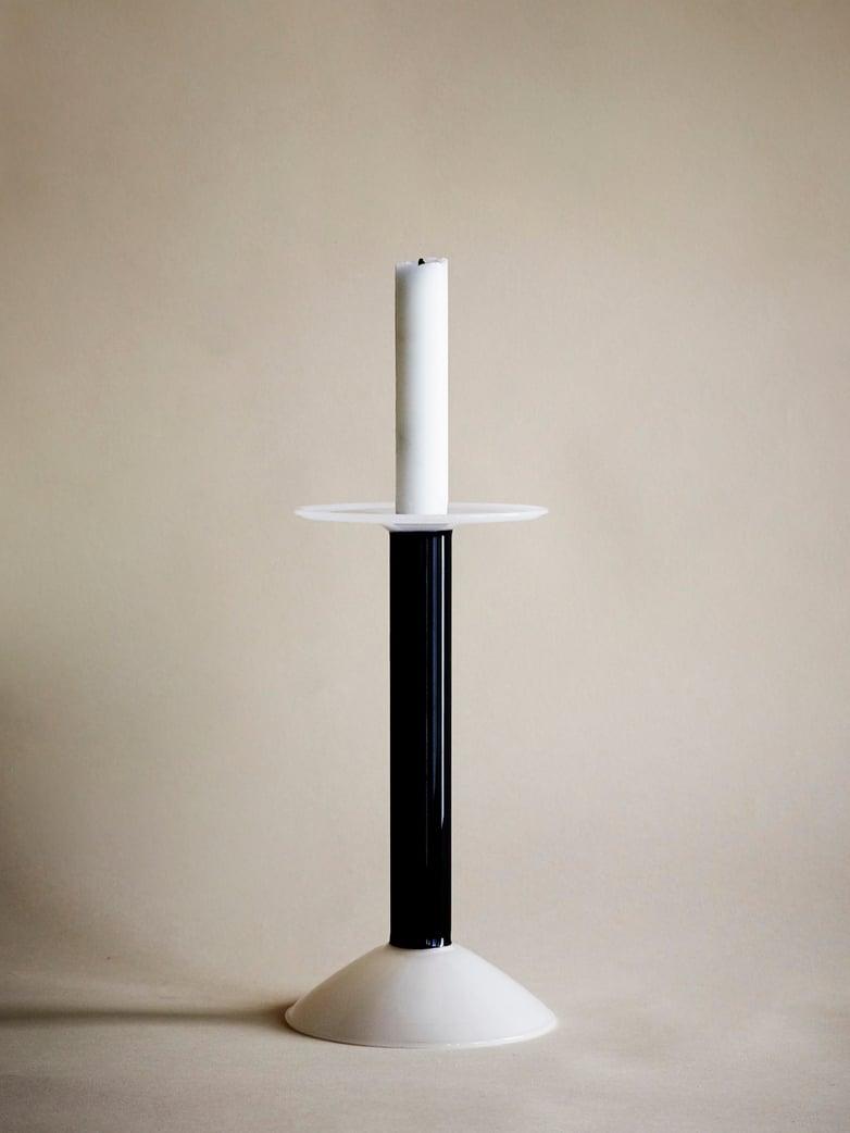 Rainbow Candle Holder Medium - Black