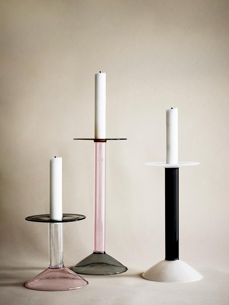 Rainbow Candleholder Large - Pink