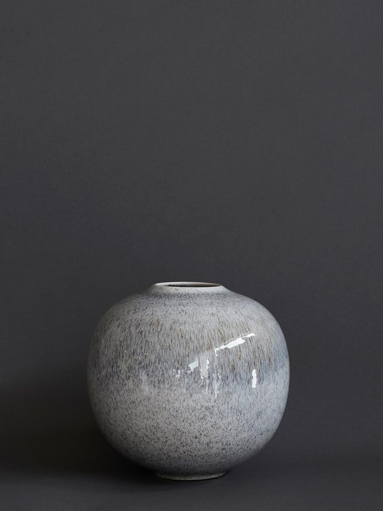 Brugge Vase Black and Grey