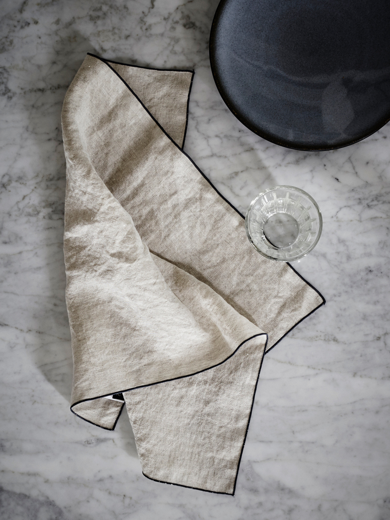 Place Mat Washed Linen - Ciment