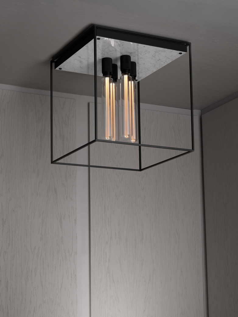 Caged Ceiling 4.0 - Polished White Marble