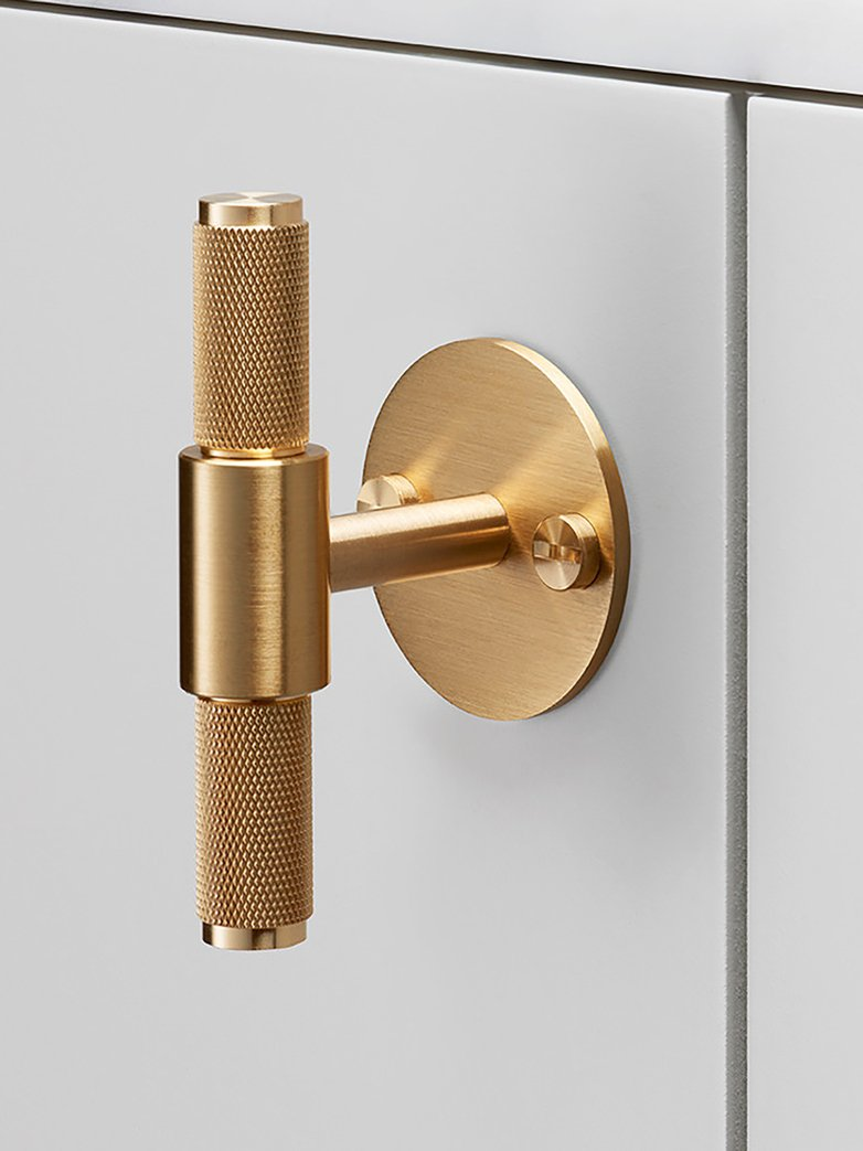 T-bar with Plate - Brass