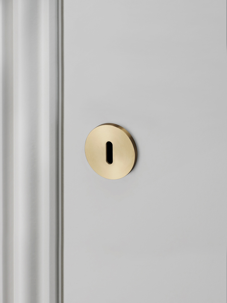 Key Escutcheon Plate - Brass