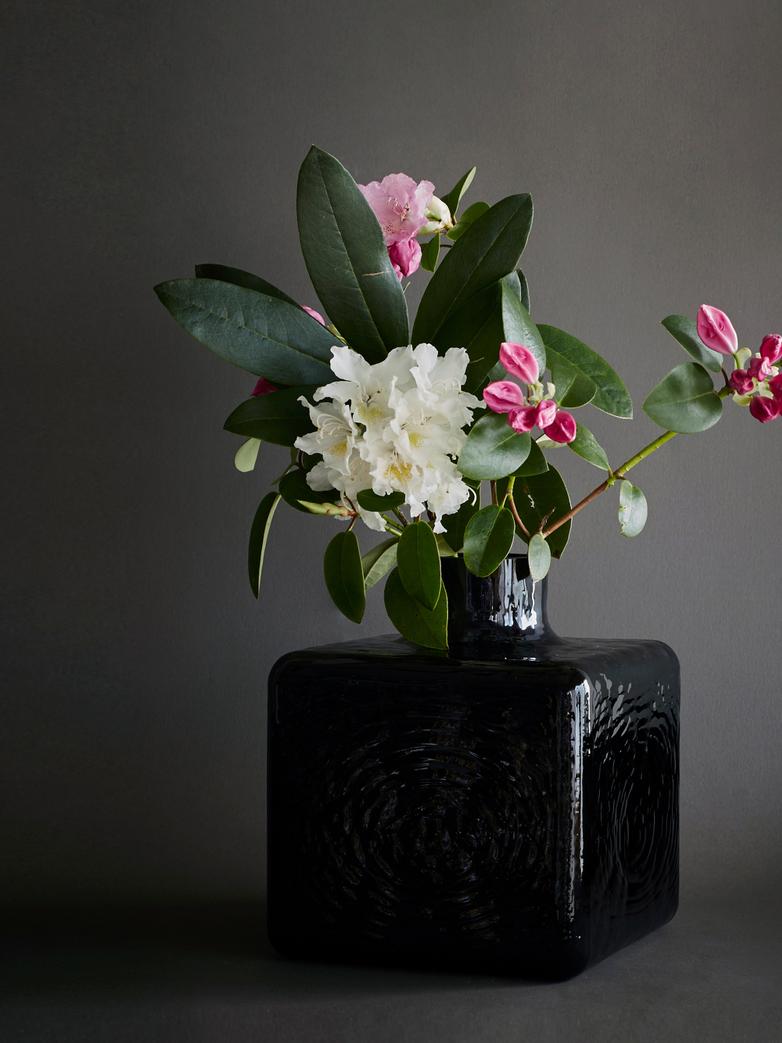 Cube Vase - Black