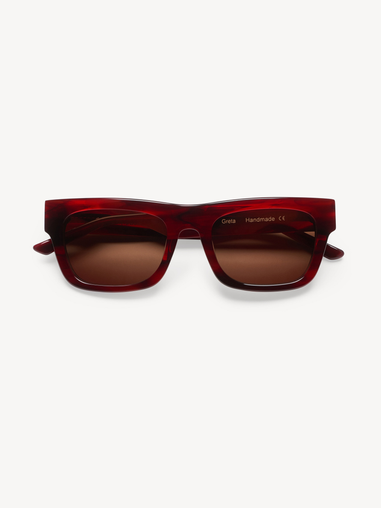 Sunglasses Greta - Stripey Red