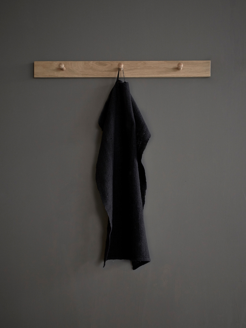 Kitchen Towel Hand Woven - Black