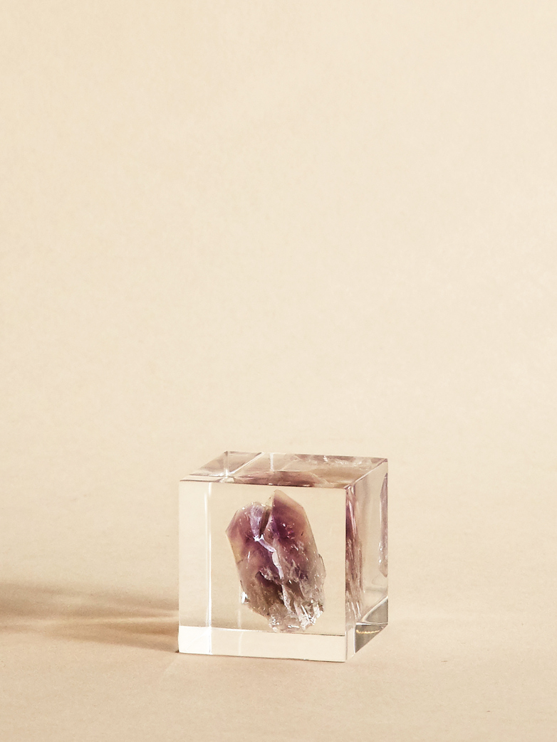 Mineral Amethyst Cube