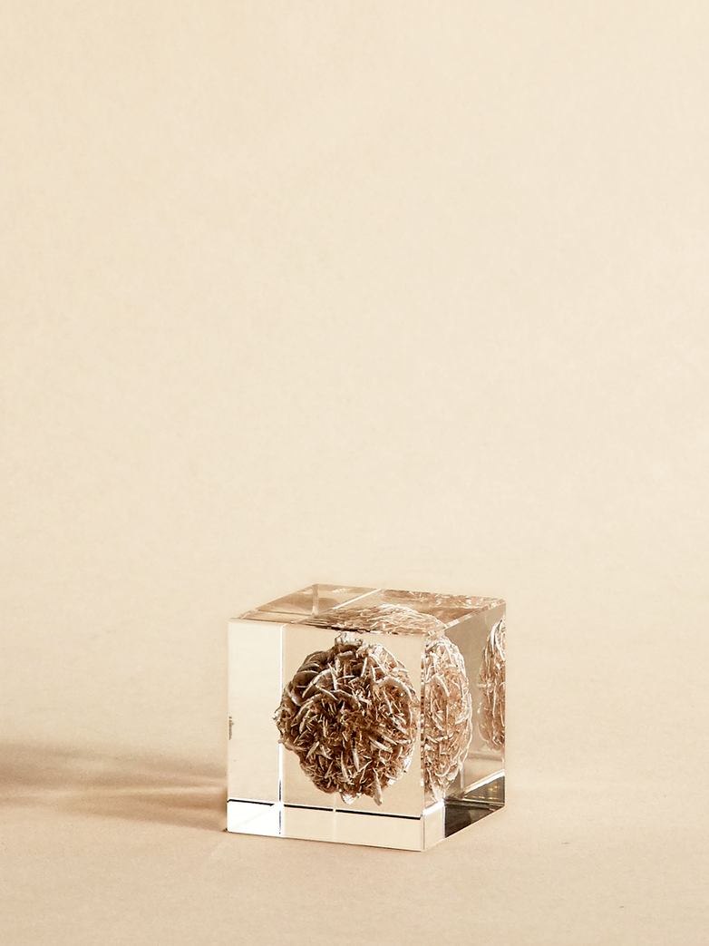 Mineral Desert Rose Cube