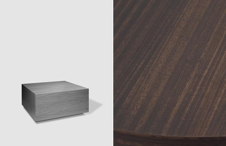 Boxed Sofa Table – 75 x 75 – Smoked Eucalyptus