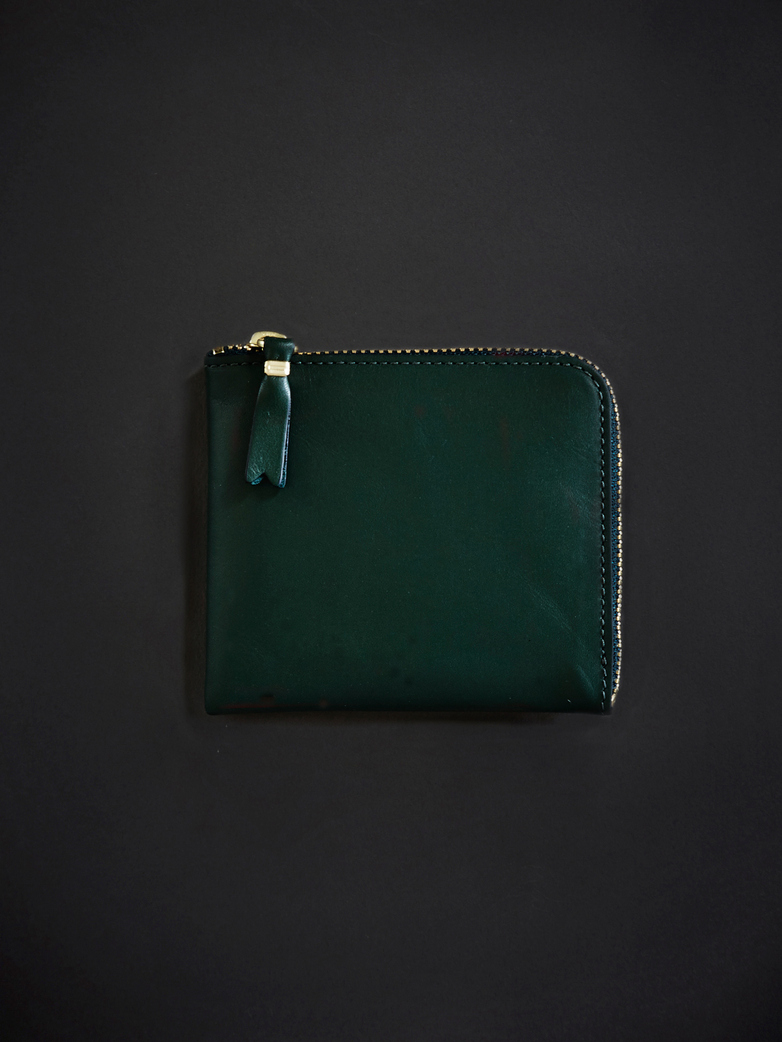 Classic Zip Wallet Bottle Green