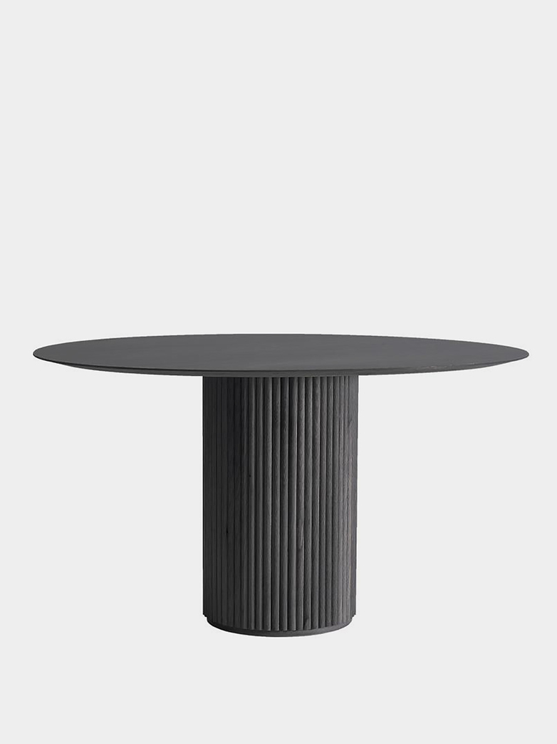 Palais Royal Dining Table - Dark Grey Stained Oak