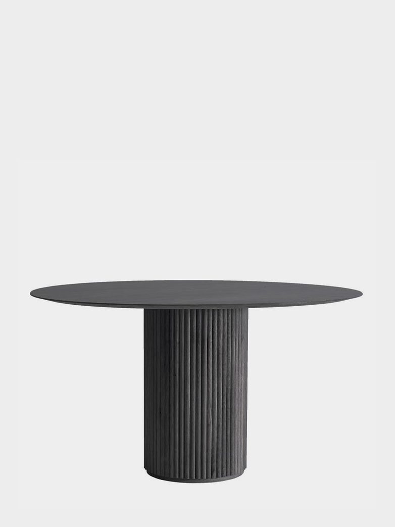 Palais Royal Dining Table - Dark Grey Stained Oak - 130 cm