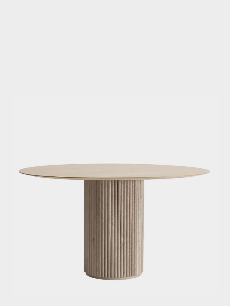 Palais Royal Dining Table - White Stained Oak - 130 cm