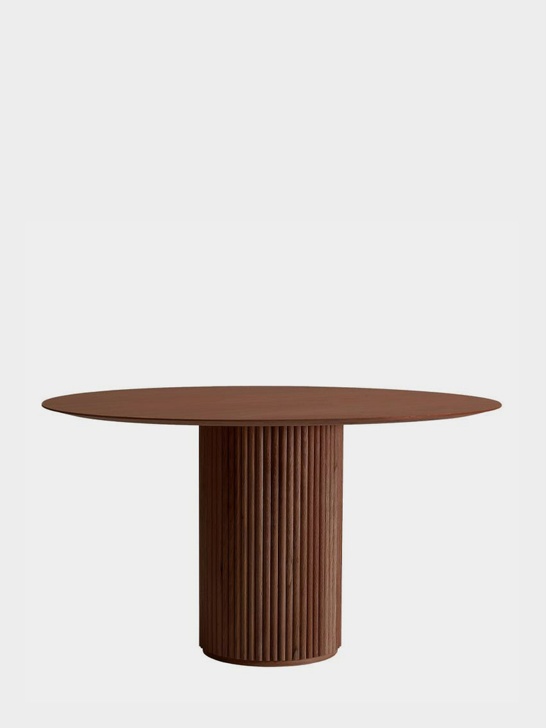 Palais Royal Dining Table - Teak Stained Oak - 130 cm