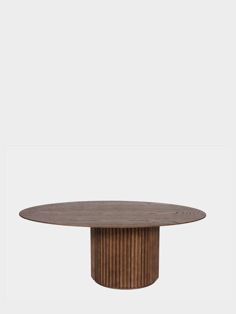 Palais Oval Sofa Table – Teak Stained Oak