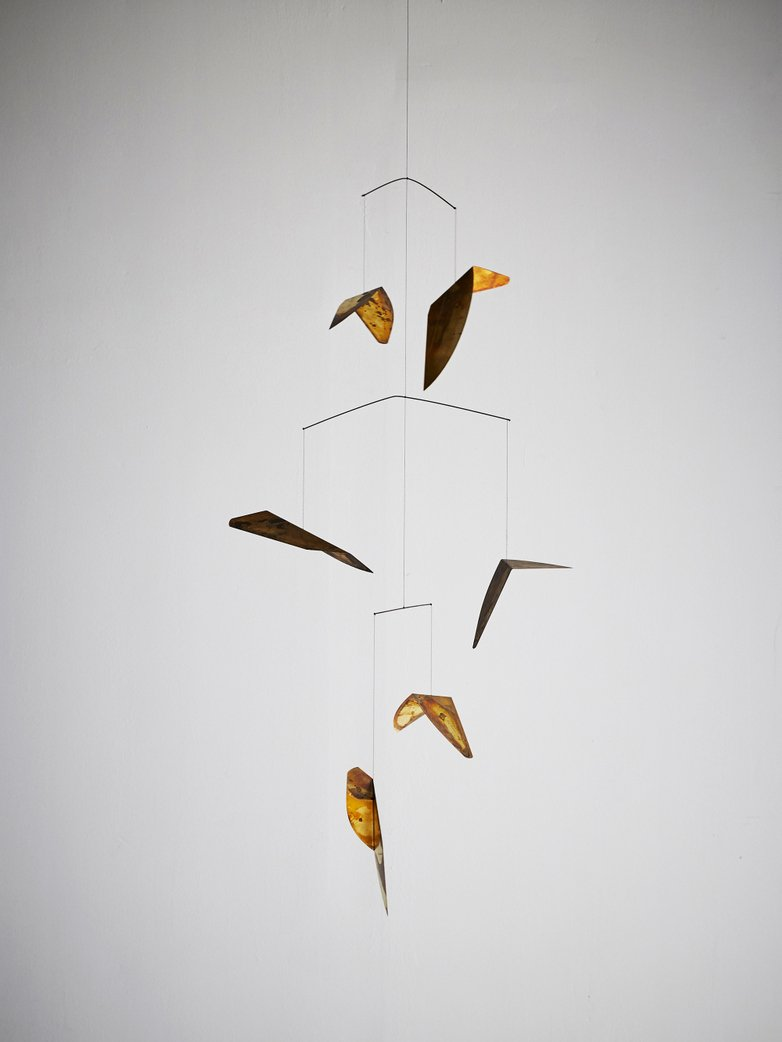 Autumn Leaves Mobil Sculpture