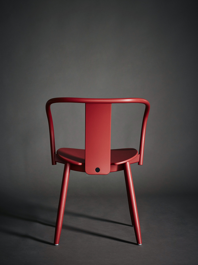 Icha Chair - Red Lacquered Beech