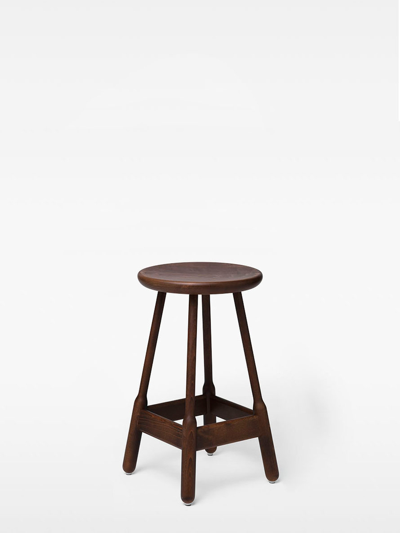 Albert Barstool – Walnut Stained Beech