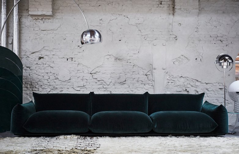 Marenco Sofa 354cm – Mistral Dark Green