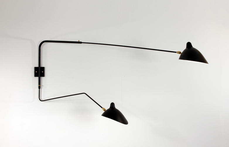 Wall Lamp with Two Rotating Arms