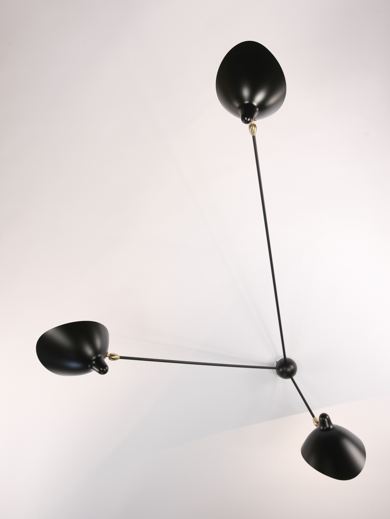 Wall Lamp Three Rotating Straight Arms