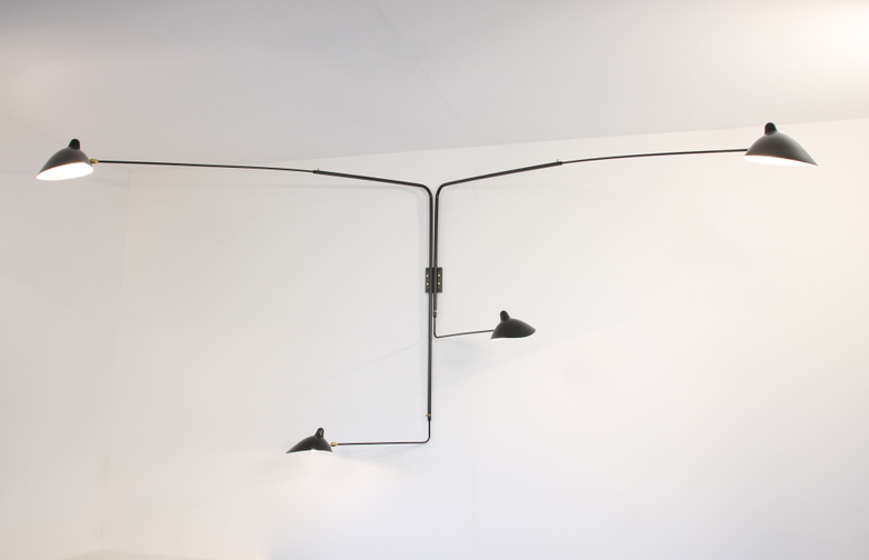 Wall Lamp with Four Rotating Straight Arms