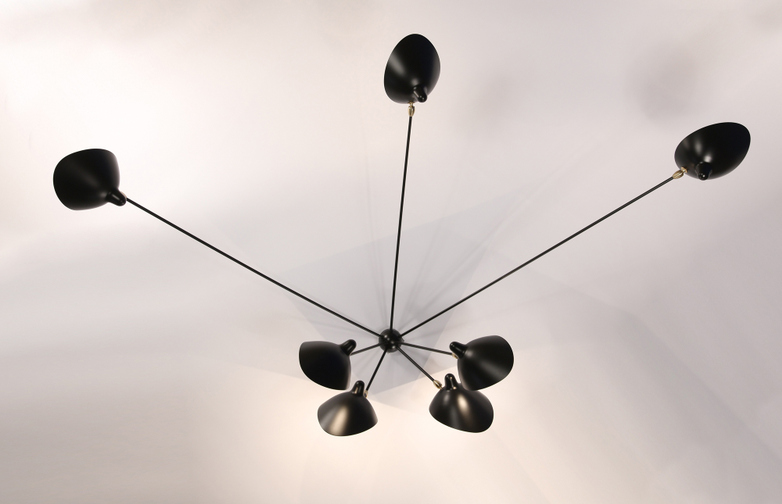 Wall Lamp with Seven Fixed Arms