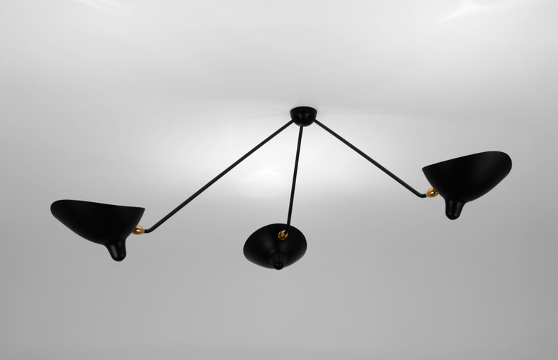 Ceiling Lamp with Three Fixed Arms