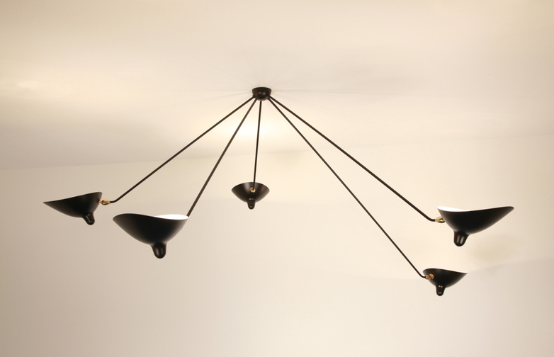 Ceiling Lamp with Five Fixed Arms