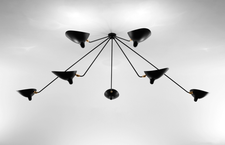 Ceiling Lamp with Seven Fixed Arms