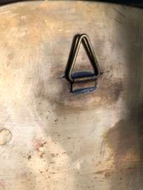 Ame Hand Crimped Brass Mirror 54x56 cm