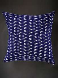 Pillow 65x65 cm Ocean Blue with White Pattern