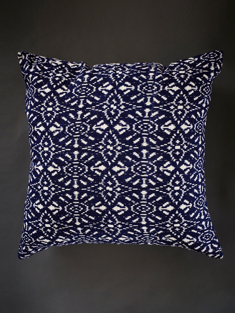 Pillow 65x65 cm Dark Blue with White Pattern